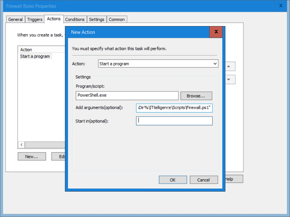 execute powershell script from task scheduler